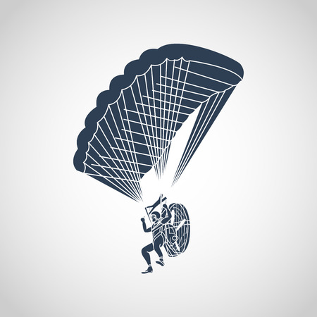 Paragliding vector logo icon illustration