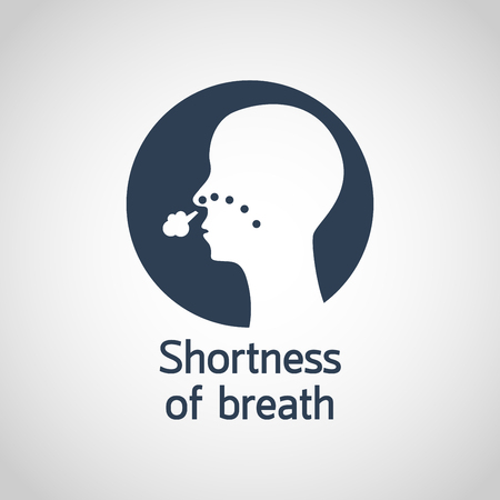 Shortness of Breath vector logo icon illustration