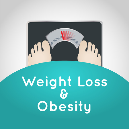 Weight Loss and Obesity vector logo icon illustration