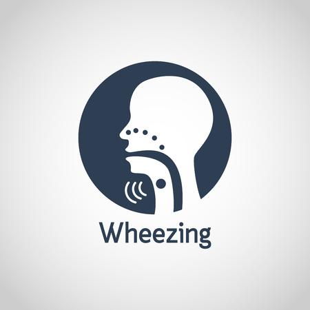 Wheezing vector logo icon illustration