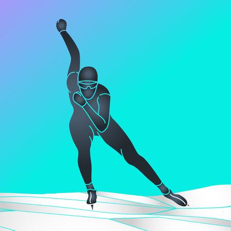 Skating vector icon illustration