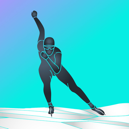 Skating vector icon illustration