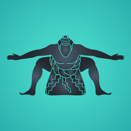 Sumo vector icon illustration Иллюстрация