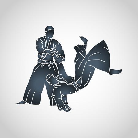 Aikido vector icon illustration