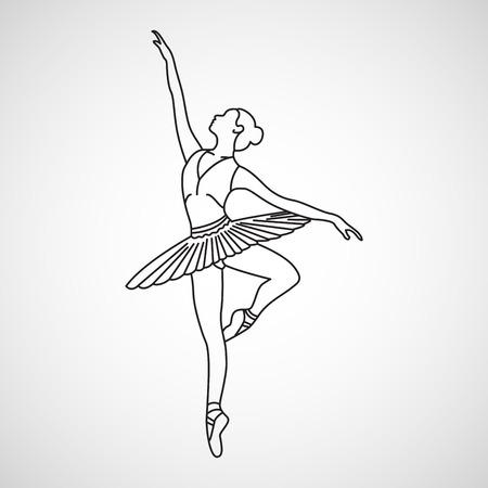 Ballet pictogram vectorillustratie