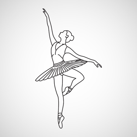 Ballet vector icon illustration