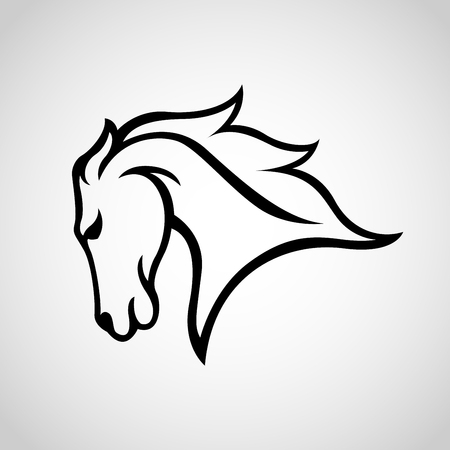 Horse vector icon illustration 向量圖像