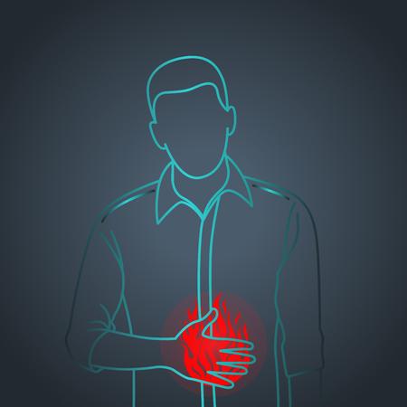 Indigestion vector icon illustration