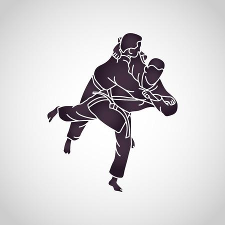 柔道ベクトルアイコンイラスト