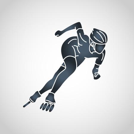 Illustrazione dell'icona di vettore di sport del rullo