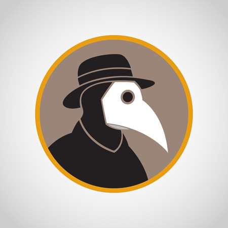 Plague vector icon illustration