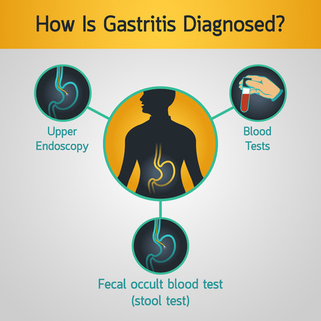 Gastritis vector logo icon illustration Illustration