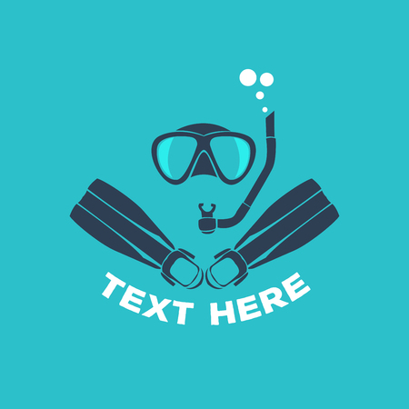 Scuba diving vector illustration Illustration