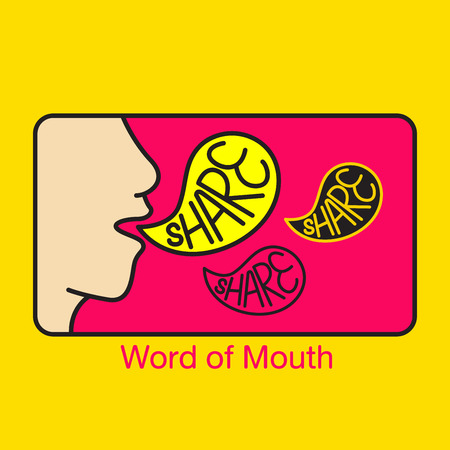 Word of mouth vector illustration