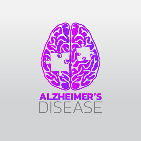 Risk factors for Alzheimer's disease icon design, info-graphic health, medical info-graphic. Vector illustration.