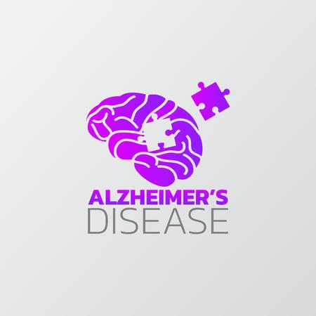 Risicofactoren voor het ontwerp van de ziekte van Alzheimer, info-grafische gezondheid, medische info-grafische. Vector illustratie Vector Illustratie