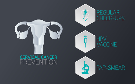 Cervical cancer prevention icon. Vector illustration.
