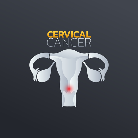 Cervical cancer icon design, info-graphic health. Vector illustration.