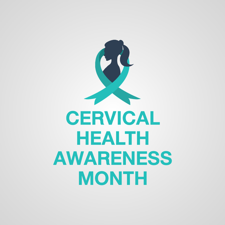 Cervical Health Awareness month icon vector illustration.