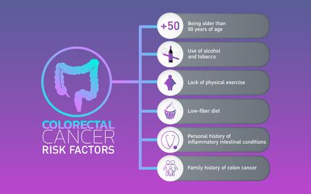 Colorectal Ccncer icon design, info-graphic health. Vector illustration.