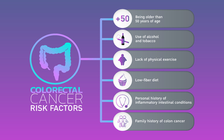Colorectal Ccncer icon design, info-graphic health. Vector illustration.