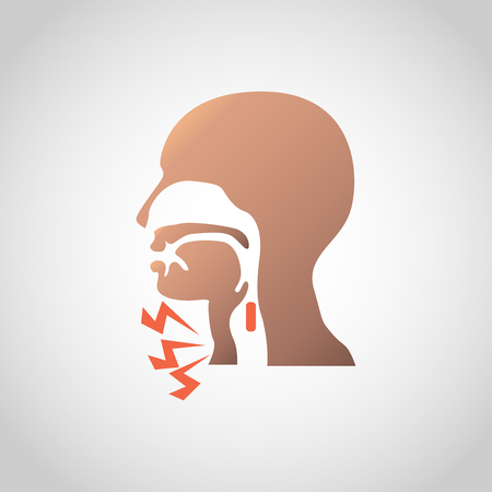 Difficulty swallowing icon design. Vector illustration. 일러스트