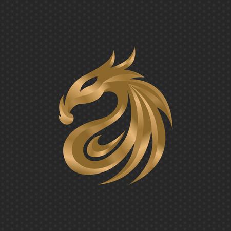 Dragon logo design template ,Vector illustration Illustration