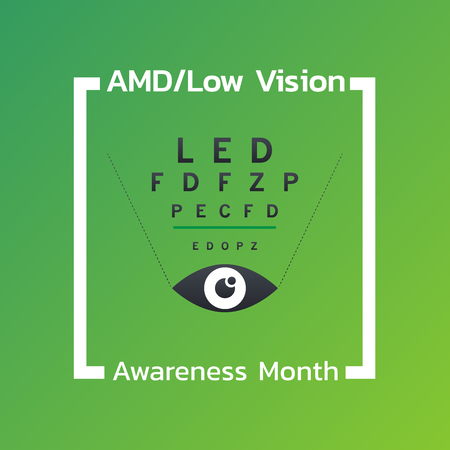 Low Vision Awareness month icon design. Vector illustration.