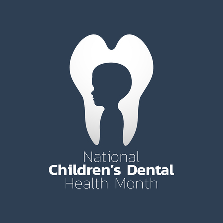 National Children Dental Health month icon design. Icon vector illustration.