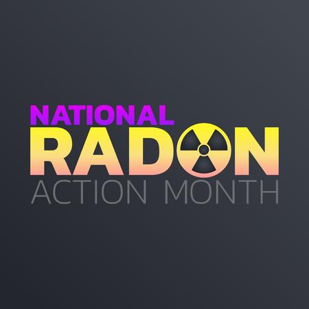 National Radon Action Month icon design. Icon vector illustration. Vector Illustration
