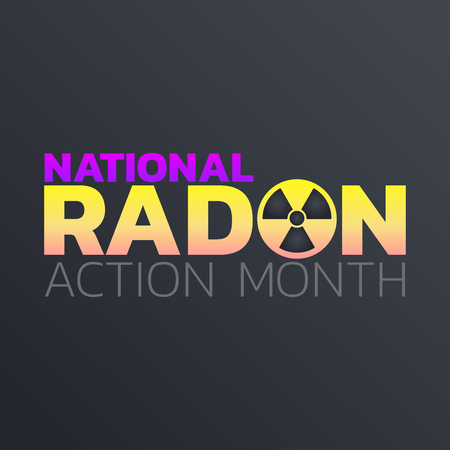 National Radon Action Month icon design. Icon vector illustration. Illustration