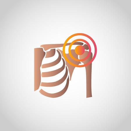 Conception d'icône de douleur épaule, santé info-graphique. Illustration vectorielle Banque d'images - 94711866