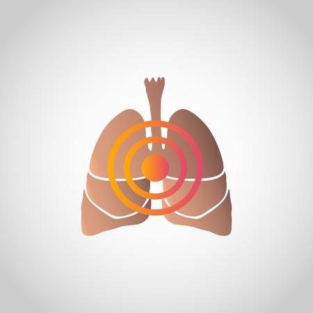 Short of Breath icon design, info-graphic health. Vector illustration.