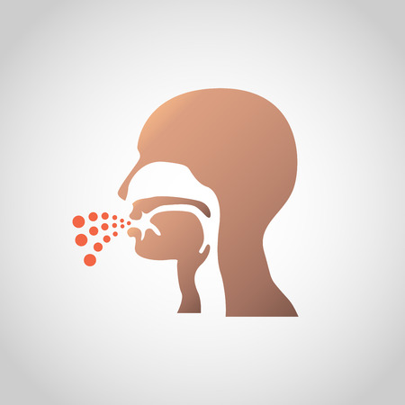 A cough icon design. Vector illustration on light background.