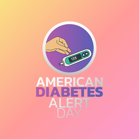 American Diabetes Alert Day icon design, infographic health, medical infographic. Vector illustration