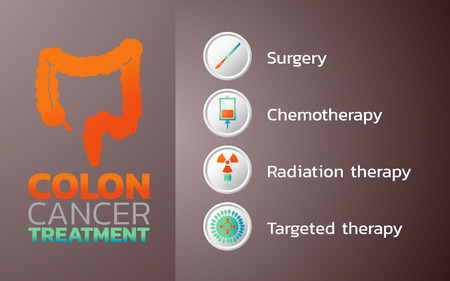 Colon Cancer Treatment icon design, infographic health, medical infographic flyer and banner, vector illustration
