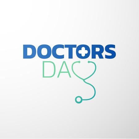 Projekt ikony dnia lekarzy, logo medyczne. Ilustracji wektorowych Logo