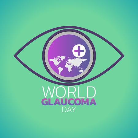 World Glaucoma Day logo icon design, vector illustration Ilustracja