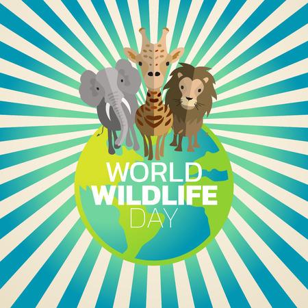 World Wildlife Day icon design, vector illustration