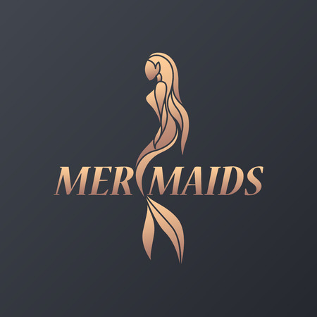 Mermaid icon design, vector illustration