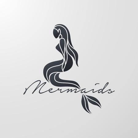Mermaid icon design, vector illustration