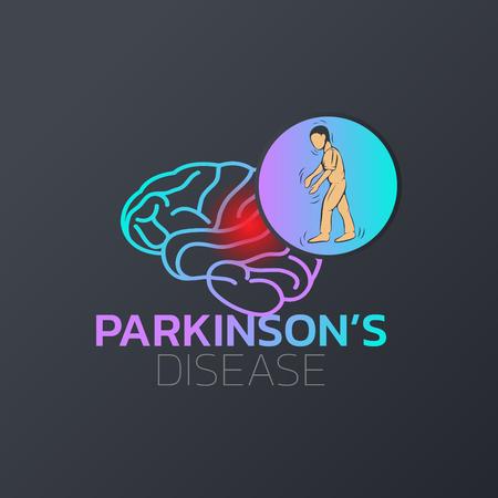Parkinsons Disease icon design, medical icon . Vector illustration