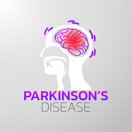 Parkinsons Disease icon design, medical icon. Vector illustration Illustration