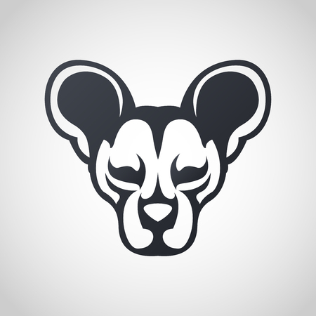 African wild dog icon design, vector illustration