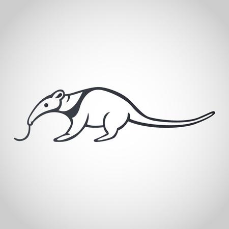 Anteater icon design, vector illustration
