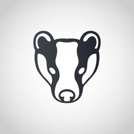 Badger logo icon design, vector illustration.