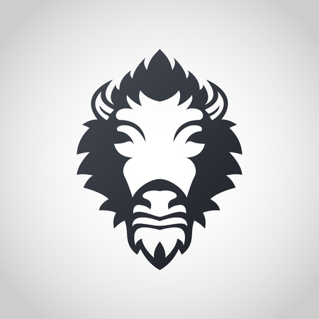 Bison icon design, vector illustration Çizim