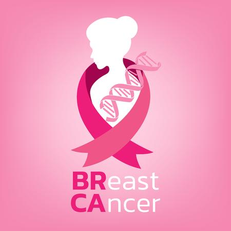 Breast cancer awareness icon design on pink background vector illustration Stock Illustratie