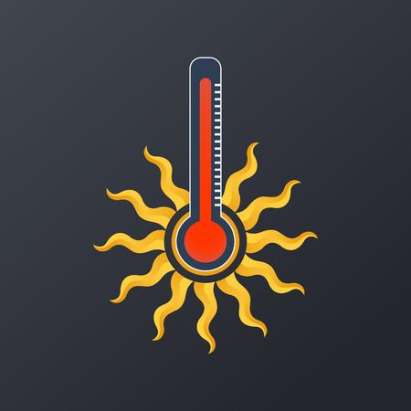 Conception d'icône de température chaude, illustration vectorielle