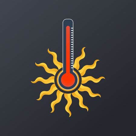 Hot temperature icon design, vector illustration Illustration